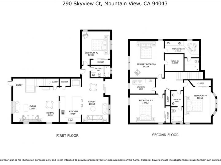 290 Skyview Ct Mountain View CA Home. Photo 39 of 40